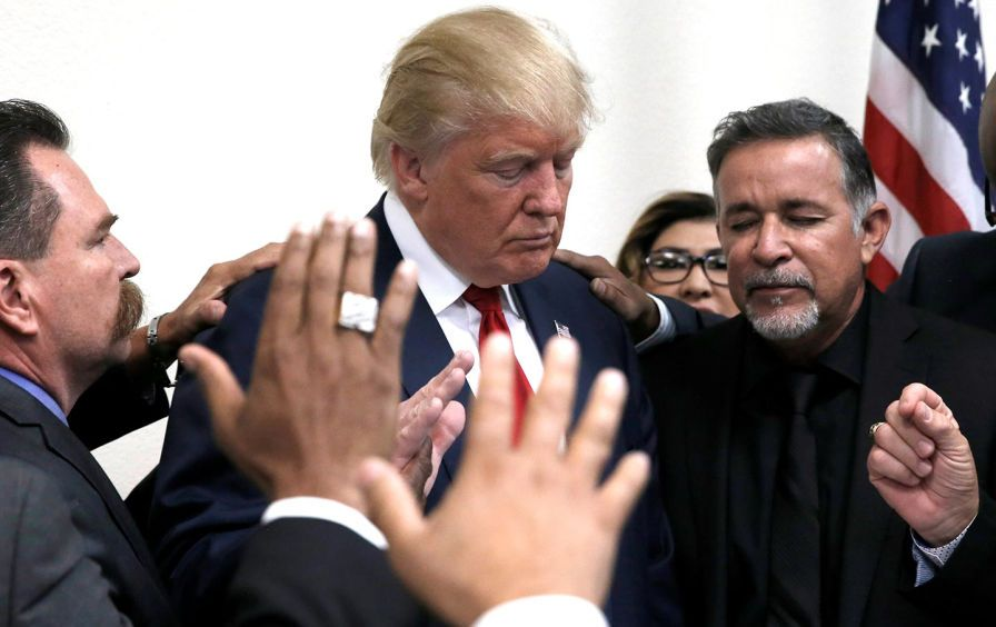 Image result for photos of trump with evangelicals in the White House